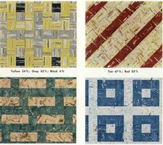 Plan on laying asphalt linoleum tile in your mid-century modern home? Here are 30 floor tile patterns from the 1950s.