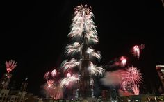 The glitzy Persian Gulf city blitzed the night sky with half a million fireworks during an eye-popping celebration that topped any pyrotechnic performance the globe has ever seen.