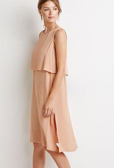 Layered Split-Back Dress   LOVE21 - 2000130880