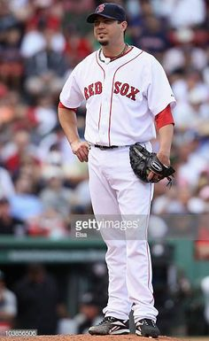 47f726c01 Josh Beckett of the Boston Red Sox reacts after walking Alex Rios of the  Chicago White