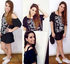 Entenda de Moda Shirt Dress, T Shirt, Ideias Fashion, Dresses, Supreme T Shirt, Vestidos, Shirtdress, Tee Shirt, Dress