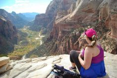 The best road trips include getting out of the car and enjoying the outdoors along the way! Zion National Park, National Parks, Along The Way, North America, Grand Canyon, Road Trips, Celebrities, Landing, Angels