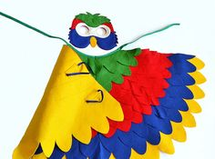 Children Parrot Costume Kids Bird Dress up Wings by BHBKidstyle