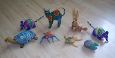 Oaxacan Alebrije Signed Handpainted by TheEclecTiqueRaven on Etsy