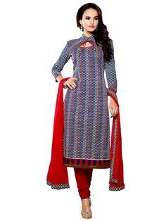Marvelous multicolor printed Chanderi cotton Kameez. Item Code: SLHD66007