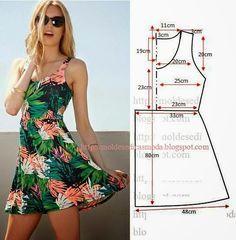 PASSO A PASSO MOLDE DE VESTIDO Corte um retângulo de tecido com a altura e  largura 78516dd3a0e
