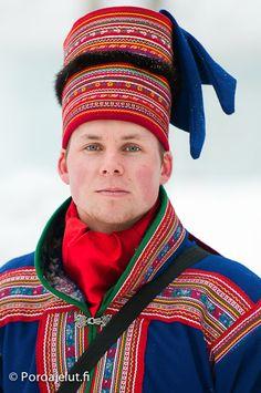 Sami man, Lapland Finland - Poroajelut.fi Sami traditional dress