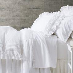 Pine Cone Hill Louisa White Duvet Ships Free, Romantic Bedding, White Duvet Covers and Shams
