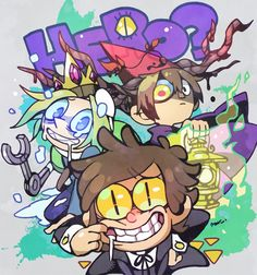 HERO? Bad End Friends. Over the Garden Wall, Adventure Time, Gravity Falls