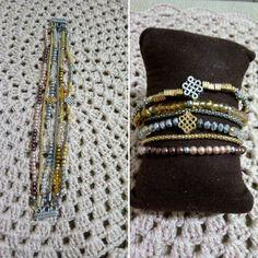 Pulseiras criadas por Clabi Bijoux e Artesanato