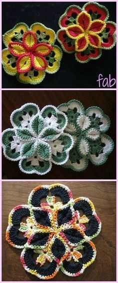 This Crochet Flower Starburst
