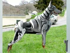 Mechanical doberman costume