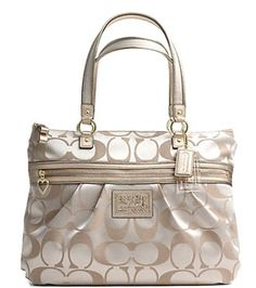 Coach Signature Daisy Glam Shopper Bag Purse