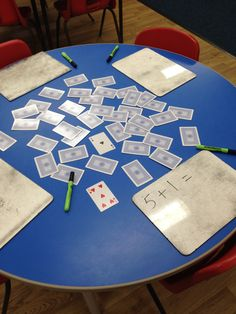Missouri K Standard - Relationships: Represent addition and subtraction within Use playing cards to create addition problems up to Math For Kids, Fun Math, Preschool Activities, Math Math, Math Addition, Addition And Subtraction, Subtraction Games, Addition Activities, Addition Games
