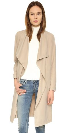 cupcakes and cashmere Laswell Twill Coat | SHOPBOP