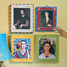 Decoupage Wall Art  •  Free tutorial with pictures on how to make a collages in under 60 minutes