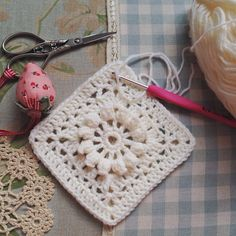 SnapWidget | Made my first popcorn and lace square and I love it! Pattern by the oh so talented @myrosevalley ❤️