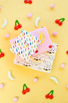 Free Printable Banana Split Wrapping Papers   Studio DIY®