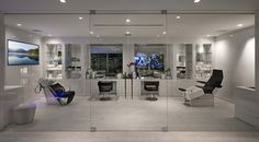 """This newly built modern home, dubbed """"Opus"""", is located at 1175 N Hillcrest Road in Beverly Hills, CA and is situated on an acre of land. Bel Air, Palm Springs, Design 24, House Design, Latest Bathroom Tiles, Beverly Hills Mansion, Villa, Modern Mansion, Modern Homes"""