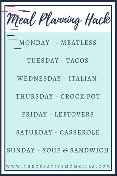 Eating Meals For Family Meal Planning hack for families trying to meal plan for a whole month in under an hour. Try meal planning to start saving money on family meals. Monthly Meal Planning, Family Meal Planning, Budget Meal Planning, Meal Planning Printable, Meal Planner, Budget Meals, Weekly Meal Plan Family, Weekly Menu, Budget Recipes