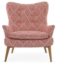 Sonja Chair, Pink/White Aztec  Modern Pink Home Ideas and Inspiration