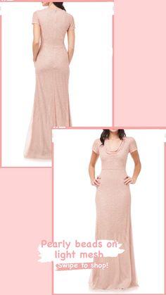 Light Pink Bridesmaid Dresses, Pink Bridesmaids, Designer Bridesmaid Dresses, Cowl Neck, Nordstrom, Gowns, Shopping, Collection, Vestidos
