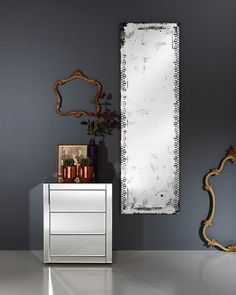 A large frameless full length wall mirror with an unusual decorative contemporary distressed finish, for hallways, living rooms, bedrooms and bathrooms. Hallway Mirror, Hall Mirrors, Window Mirror, Living Room Mirrors, Round Mirrors, Large Mirrors, Mirror Mirror, Silver Framed Mirror, Copper Mirror