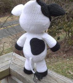 Lil' Cow Amigurumi Crochet Pattern PDF file only. Medium