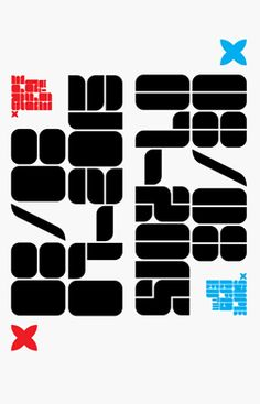 Blox is a bold, retro, experimental display typeface designed by Superfried