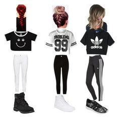 """Squad out fits"" by isasaurus on Polyvore featuring Timberland, Steilmann, adidas, River Island and Vans"