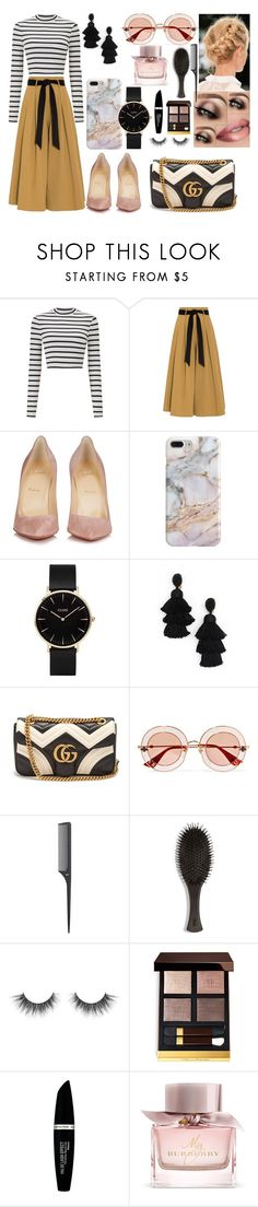 """Sunday morning"" by nicks-1 ❤ liked on Polyvore featuring Miss Selfridge, Temperley London, Christian Louboutin, Recover, CLUSE, Oscar de la Renta, Gucci, Oribe, Tom Ford and Max Factor"