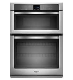 Whirlpool® 5.0 cu. ft. Combination Microwave Wall Oven with SteamClean Option (WOC54EC0AS Monochromatic Stainless Steel) |