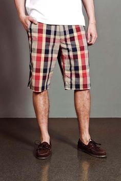 Men's Plaid Shorts.