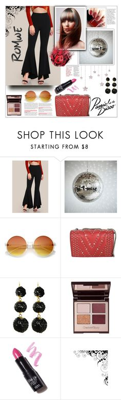 """Romwe.Super Flare Pants"" by natalyapril1976 ❤ liked on Polyvore featuring PBteen, Chanel, ZeroUV, MCM, Charlotte Tilbury and NYX"