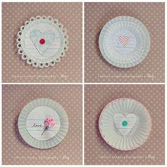 cupcake liner valentines