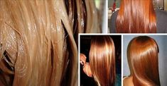 Este é um alisamento de cabelo feito em casa e apenas com ingredientes naturais.
