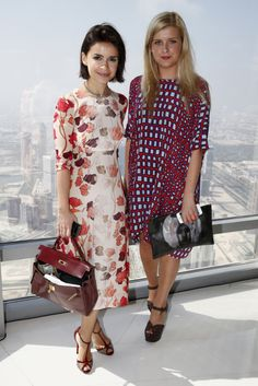 Style Set: This Week's Best Dressed: Miroslava Duma and Holly Williams took in the view over Dubai with Vogue.