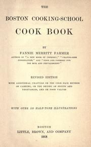 The Boston cooking-school cook book : Farmer, Fannie Merritt, 1857-1915 : Free Download & Streaming : Internet Archive