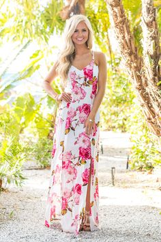 More Than A Feeling Floral Maxi Dress - The Pink Lily