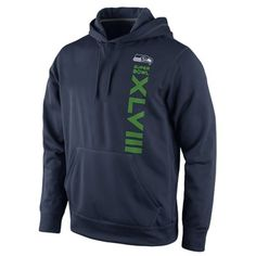 Nike Seattle Seahawks Super Bowl XLVIII Bound Pullover Performance Hoodie