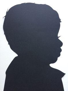 One Custom Hand Cut Silhouette Portrait