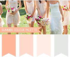 Summer Wedding Colour Palettes