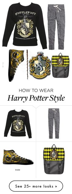 """""""Hufflepuff Power!"""" by goldenaple on Polyvore featuring Madewell"""