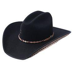 c8e07877caa Charlie 1 Horse Rising Star Color Black Cowboy Hat (6 5 8) 100% WOOL FELT  4″ Brim Hair-on Cowhide under Brim  Star Concho Famous Words of Inspiration.
