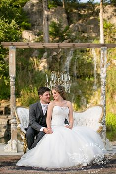 Bridal Veil Falls - San Antonio, TX  Elegant, Romantic, Timeless, Chandelier, Wedding Dress, Water falls, Rustic, Traditional, out doors, Elegant, Summer, Greenery, Couples, Romantic, Fun, Reception, Rehearsal, Have to Have Look, Photographed by Lightly Photography, Photographers based on DFW area LightlyPhoto.com