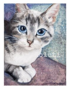 Hey, I found this really awesome Etsy listing at https://www.etsy.com/listing/233886069/cat-print-blue-eyed-tabby-cat-fine-art