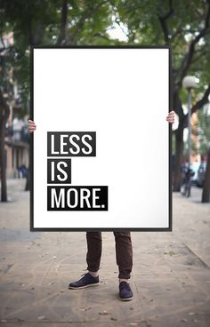 "Printable Art Poster ""Less is more"", Motivational Quote, Inspirational Typography Wall Art *Instant Download Printable PDF or JPG File*"