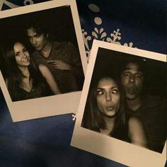 """Nina & Ian shooting the last #Delena scene together! :"""") #BittersweetEnding"""