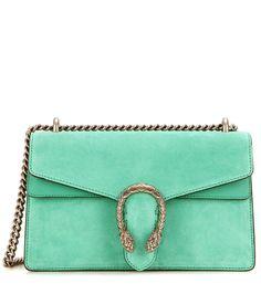 Dionysus Small green suede and leather shoulder bag Sac, Accessoires, Sacs  À Bandoulière Verts 5b7665cf72f