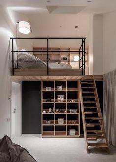 Loft Room, Bedroom Loft, Bedroom Decor, Loft Interior, Interior Design, Casa Loft, Loft House, Tiny House, Urban Loft